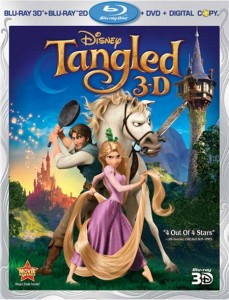 Tangled (2010) Blu-ray 3D box cover